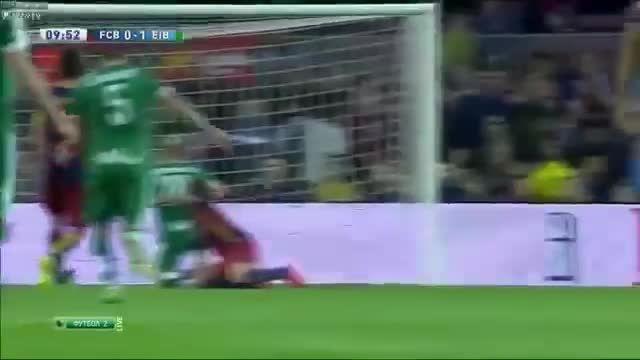 گل بارسلونا در برابر ایبار