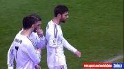 زدن فندک به سر کریس رونالدو در بازی رئال و اتلتیكو مادرید