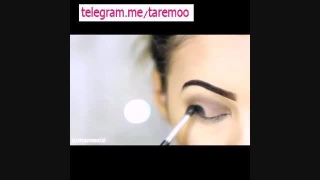 اموزش آرایش چشم دخترانه زیبا در تارمو
