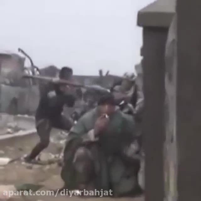 کلیپ درگیری نیروهای حشد الشعبی در بلندی های مکحول عراق