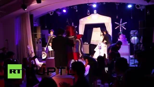 اولین مراسم ازدواج میان ربات ها در ژاپن برگزار شد