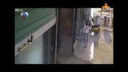 پرتاب وحشیانه کودک دو ساله به وسط خیابان!