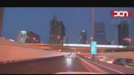 خیابان گردی رئیس جمهور مصر با خودروی ویژه حاکم دبی