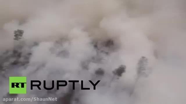 کمک روسیه به اندونزی مهار آتش سوزی جنگل Beriev Be-200