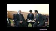 دیدار آقای روحانی با نخست وزیر ژاپن