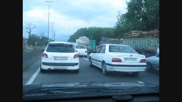 (ترافیک سنگین در جاده سراوان رشت)7