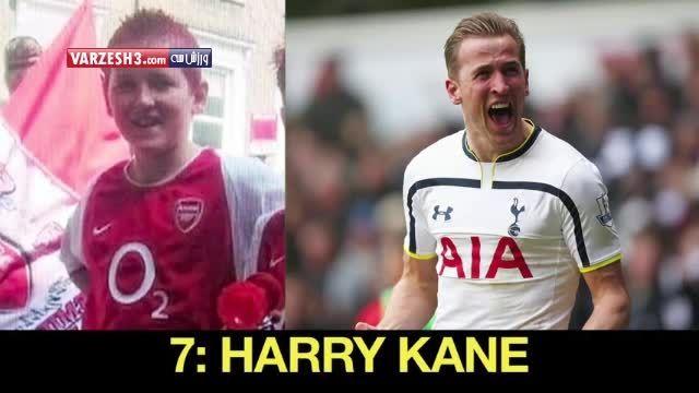 تغییر چهره ستارگان فوتبال از کودکی تا کنون