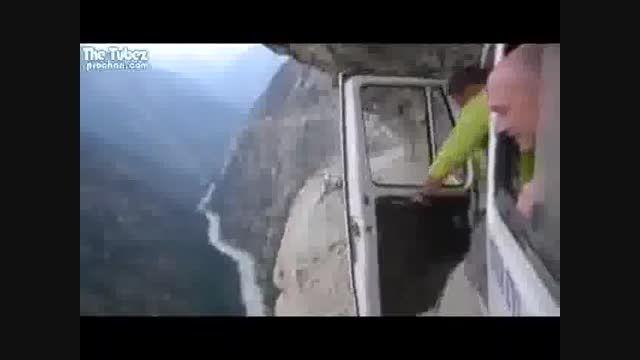 جاده کوهستانی مخوف!
