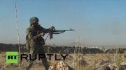 درگیری سربازان ارتش سوریه با داعش در نزدیکی مرز اسرائیل