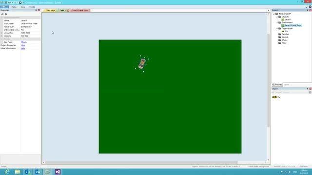 ساخت بازی ماشینی در کنستراکت 2