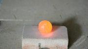 ازمایش،انداختن یک گلوله اهن داغ به درون صابون