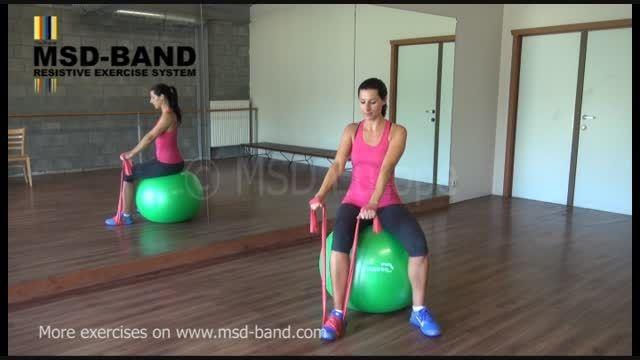 تمرین شماره 2- جهت تقویت عضلات شانه