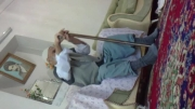 پدر بزرگ صدو چهار ساله در حال ورزش