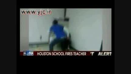 کتک زدن دانش آموز توسط معلم آمریکا