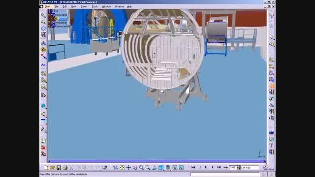 شبیه سازی و طرح ریزی خط تولید هواپیما با DELMIA V5