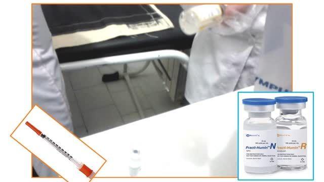 آماده سازی و تزریق انسولین
