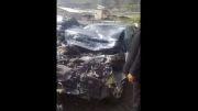 ماشین پدر شوهرم بعد تصادف