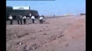 تصاویر حادثه خروج قطار از ریل در سمنان
