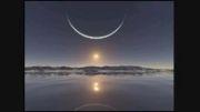 غروب خورشید در قطب شمال