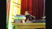 آموزش مسائل بهداشتی توسط کارشناس بهداشت خانم امیدیان