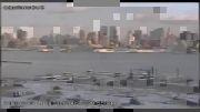 سقوط هواپیمای امریکایی در کانال وسط شهر