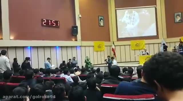سخنان دانشجوی انقلابی مقابل جلیلی