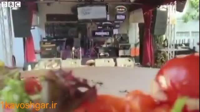 استفاده از پهپادها برای حمل غذا در رستورانی در سنگاپور