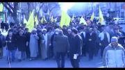 فیلم/ راهپیمایی انصار حزب الله تبریز22بهمن92