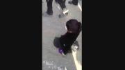 پیاده روی کودک معلول در کربلا
