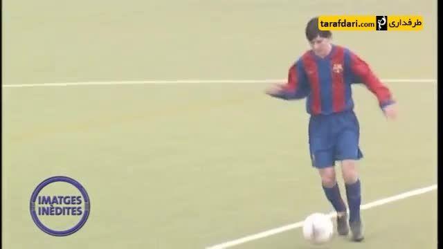 تصاویر منتشر نشده از مسی در تیم جوانان بارسلونا