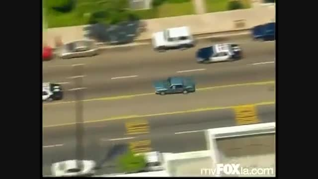 تعقیب و گریز پلیس وحشی در خیابان های لس آنجلس