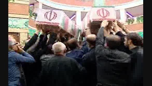 تشییع پیکر غواصان گمنام در مسجد بلال