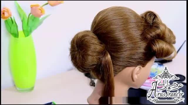 آموزش کامل مدل مو 28 - مدل موی عروس برای موهای متوسط