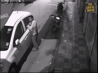 دزدی عجیب از ماشین...!