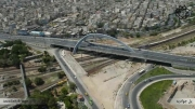 تصاویر هوایی از اولین پل سه پایه دنیا