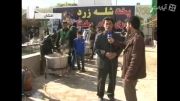 پخت بزرگترین شله  زرد نذری جنوب فارس اشکنان