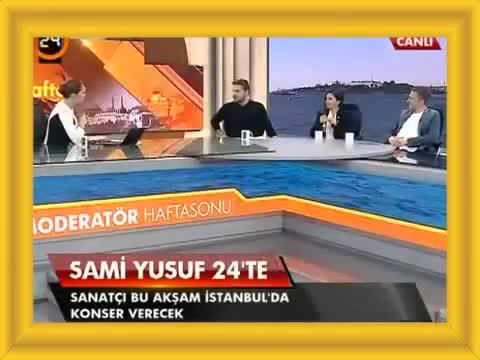 مصاحبه مشترک شبکه ترکیه باسامی یوسف،هولیا وتام رابرتسون