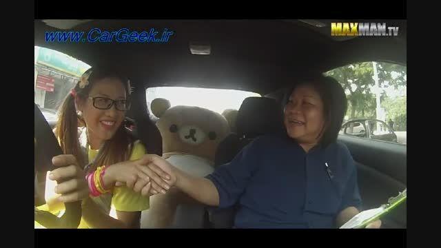 آموزش رانندگی مربی تازه کار به قهرمان رانندگی Leona Chi