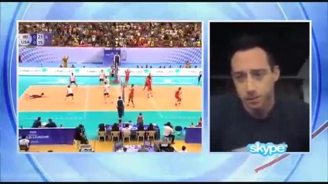 تحلیل کاپیتان تیم ملی والیبال آمریکا از بازی با ایران