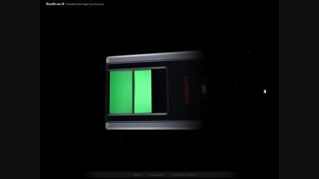 real scan d- سنسور اثر انگشت انگشت نگاری suprema