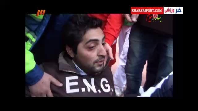 بی اخلاقی دروازه بان الاهلی قطر در بازی با تراکتور