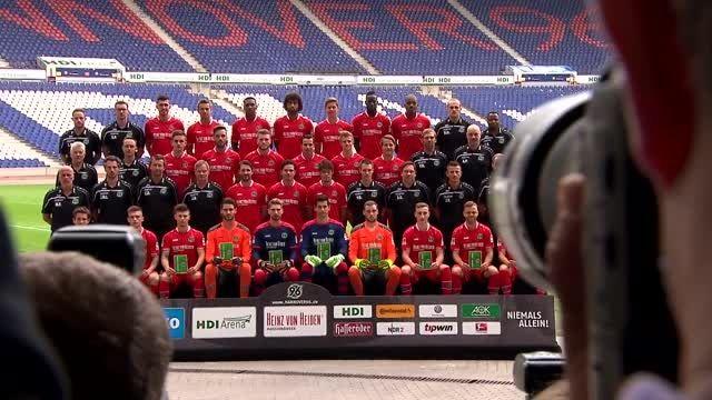 پشت صحنه عکس گرفتن رسمی تیم هانوفر آلمان