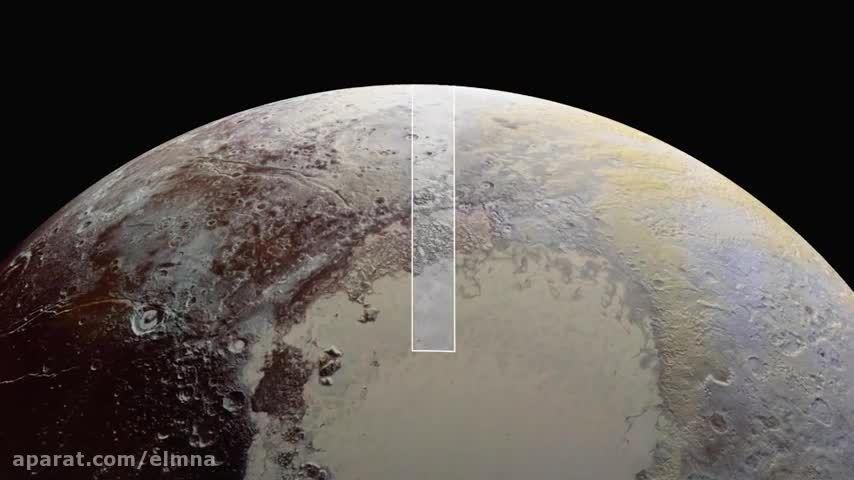 نمایی نزدیک از سطح پلوتو