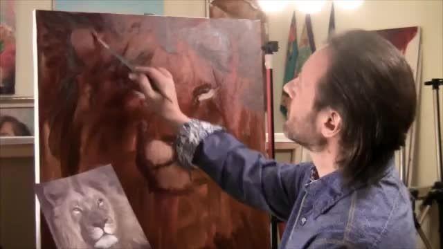 نقاشی قدم به قدم از شیر - Bazeh.com