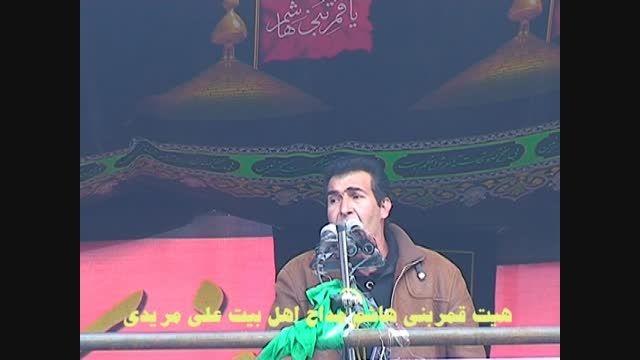 مداحی علی مریدی در هیئت انصار قمر بنی هاشم دلفان