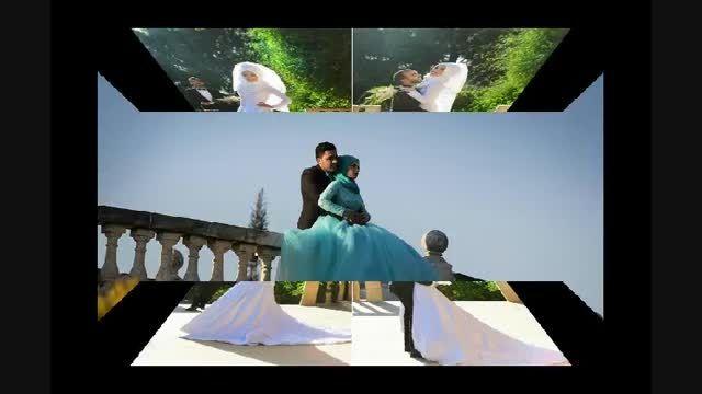 میکس زیبای عروس و داماد