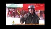 توریست های خارجی در پیست اسکی دیزین در تهران