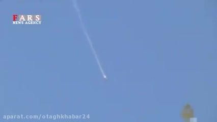 لحظه سقوط جنگنده سوخوی روسی