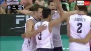 خلاصه بازی والیبال ایران 0 - 3 آمریکا