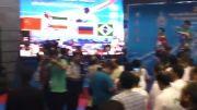 سرود ایران در مسابقات تکواندو قهرمانی نظامیان جهان